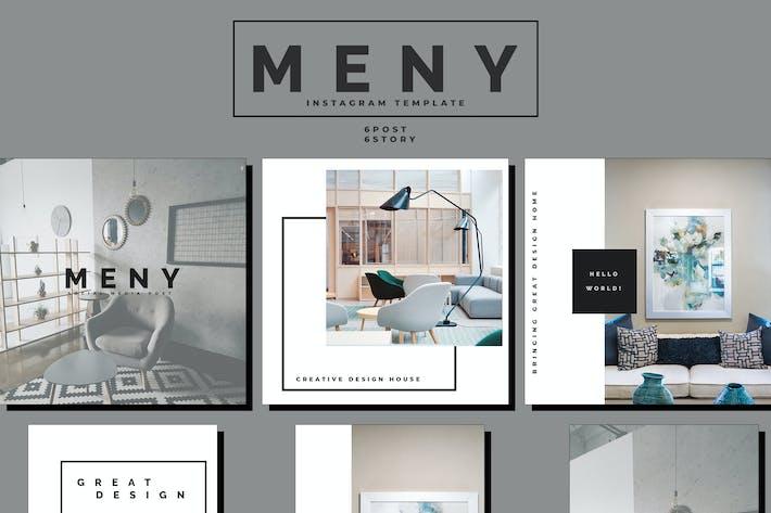 Thumbnail for Meny - Interior Social Media Template Part.22