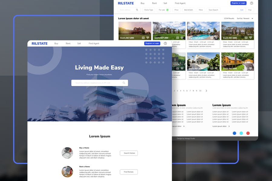 RILSTATE - Real Estate Homepage Template