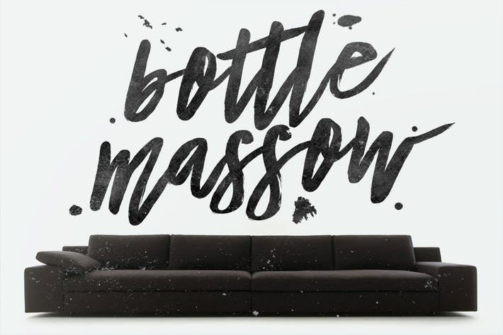 Thumbnail for Bottle Massow Typeface