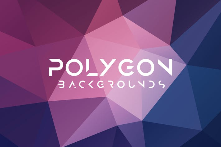 Flat Polygon Background Set