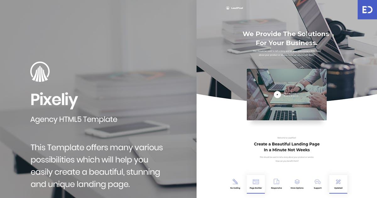 Download Pixeliy - Business HTML Landing Page Template by ExplicitConcepts
