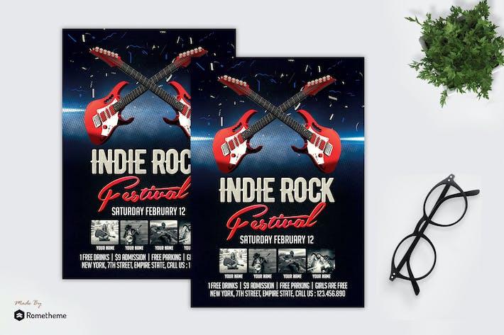 Thumbnail for Indie Rock Festival - Flyer MR