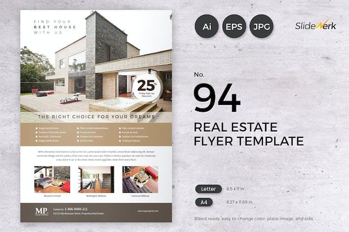 Thumbnail for Immobilier dépliant Modèle 94 - Slidewerk
