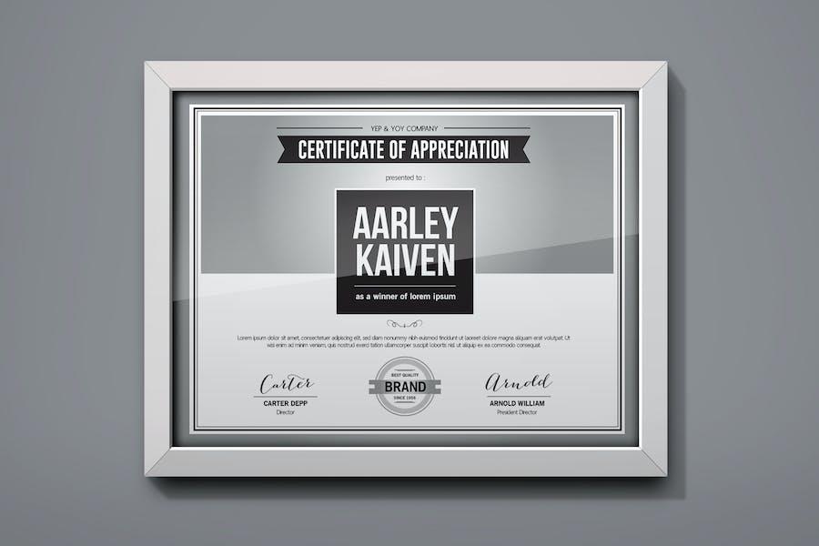 Einfaches Mehrzweck-Zertifikat
