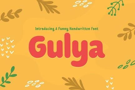 Gulya - Drôle d'écriture manuscrite enfants et police de jeu d'enfants