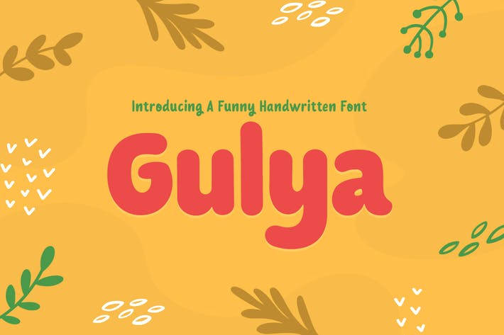 Gulya - Funny Handwriting Kids and Child Game Font