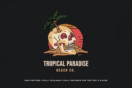 Skull Tropical Logo - KNA