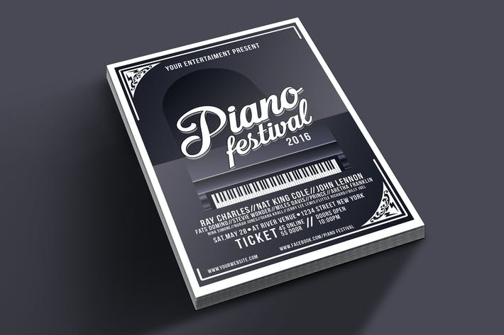 Thumbnail for Piano Festival Flyer Template