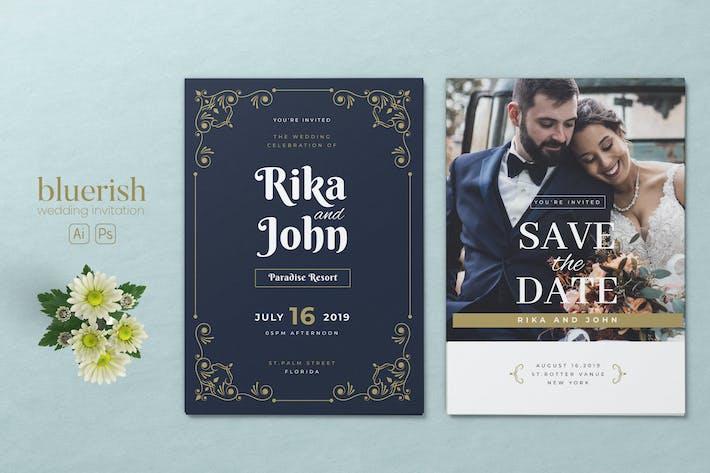 Thumbnail for Minimalist Wedding AI and PSD Invitation Vol.01