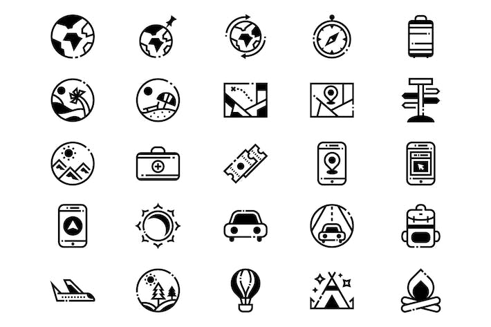 Thumbnail for Travel and Trip Icons