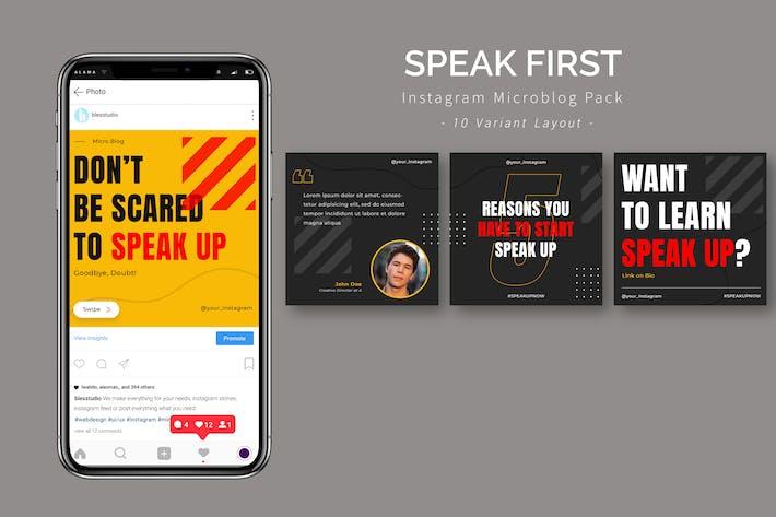 Thumbnail for Sprechen Sie zuerst - Instagram Microblog Pack