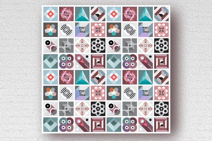 Thumbnail for Decorative Geometric Patterns vector art design