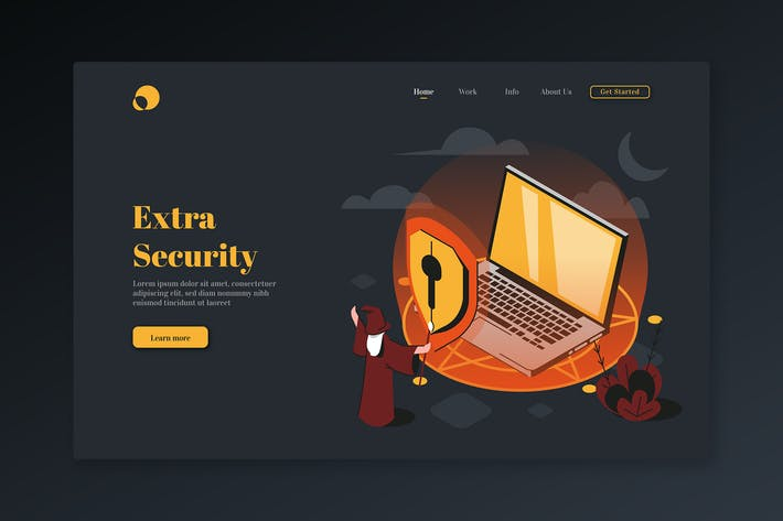 Thumbnail for Extra Security - Isometric Landing Page