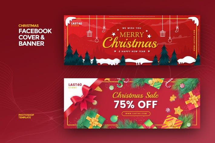 Thumbnail for Christmas Facebook Cover & Banner