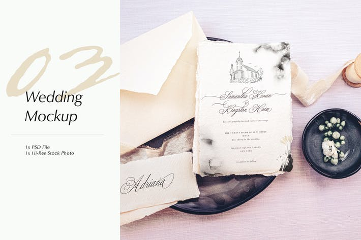 Thumbnail for Wedding Photo Mockup 03