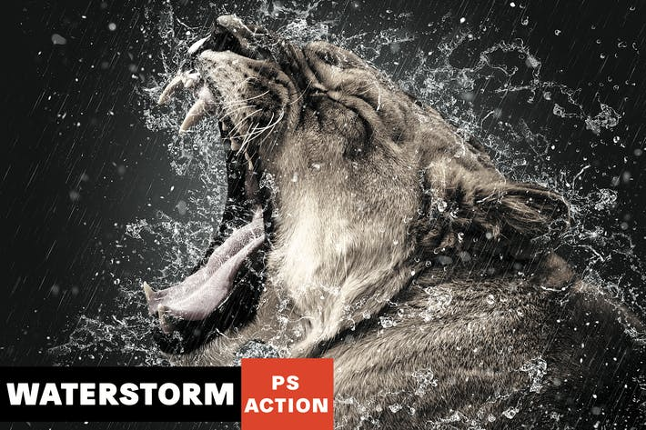 Thumbnail for WaterStorm Photoshop Action