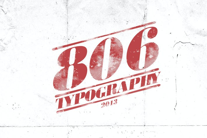 Cover Image For 806 Typography