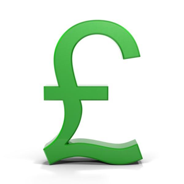 Pounds Symbol Metallic Green