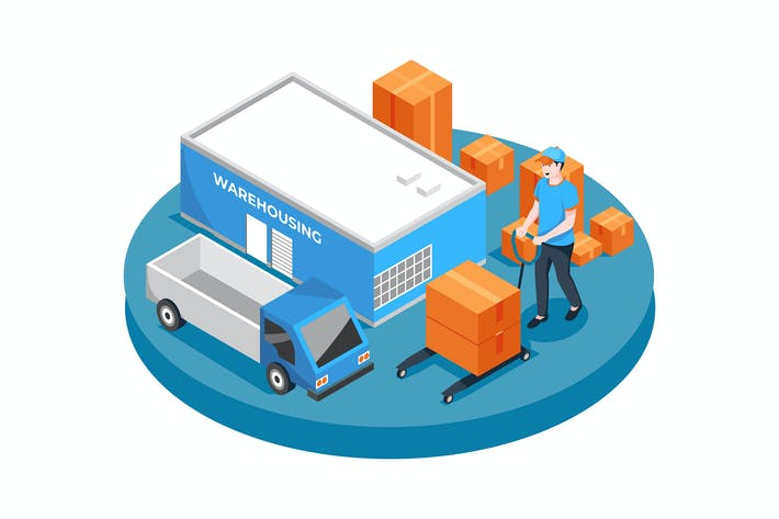 Warehousing vector Illustration concept