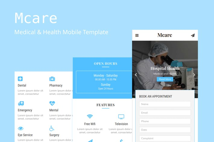 Thumbnail for Mcare - Medical and Health Mobile Template