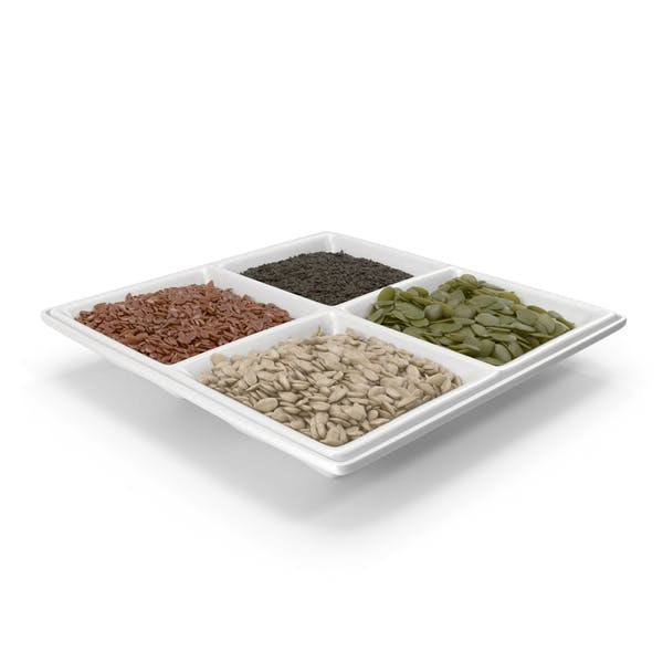 Small Compartment Bowl with Mixed Healthy Seeds