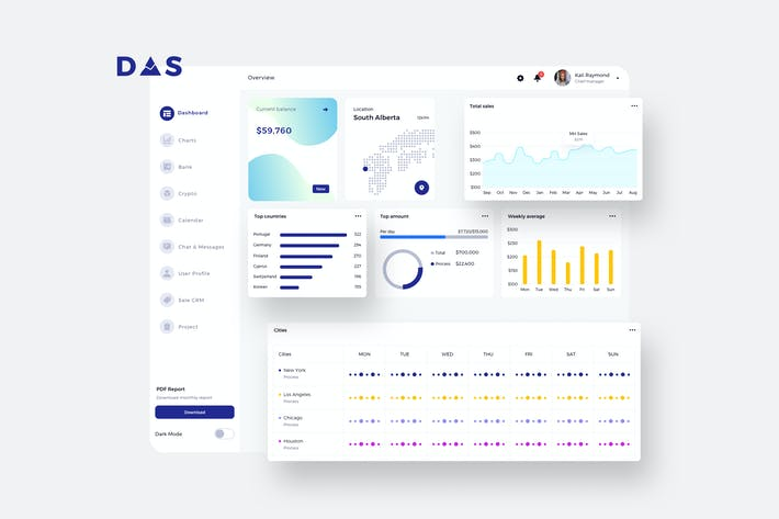 Thumbnail for DAS Finance Dashboard Ui Light - P