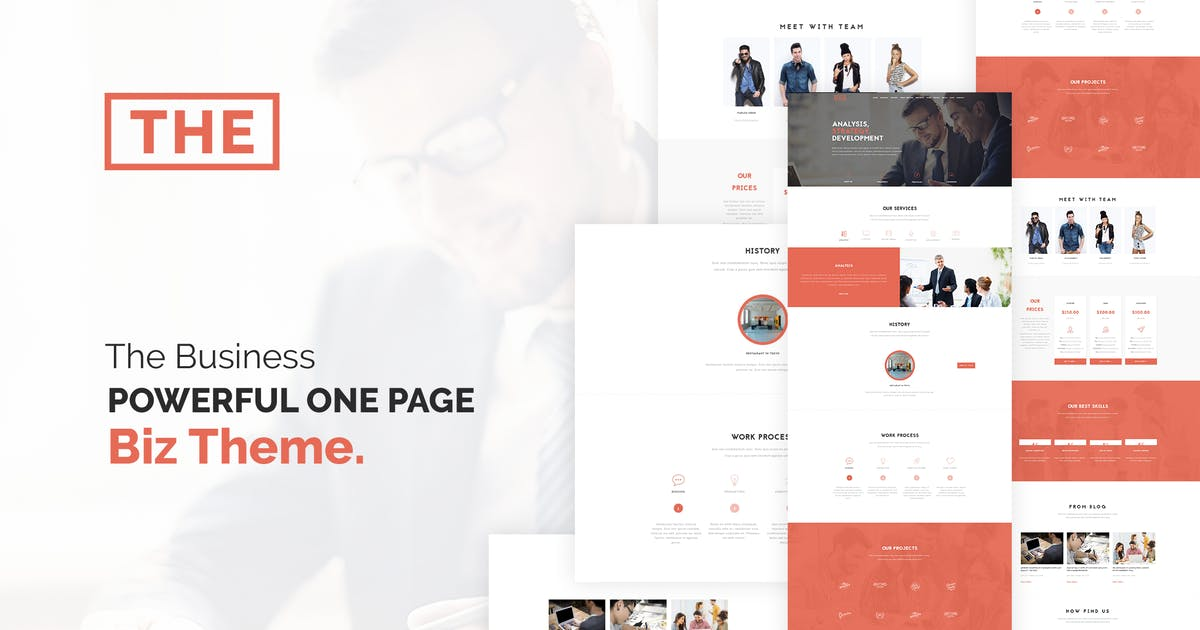 Download The Business - Powerful One Page Biz WP Theme by themeton