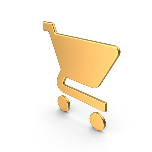 Shopping Cart Symbol Gold