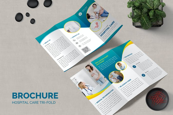 Hospital Care Brochure Templates