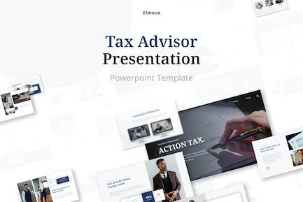 Action Tax Advisor Powerpoint Presentation
