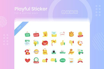 Playful Sticker Icon Pack 02