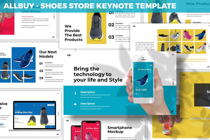Cover Image For Allbuy - Shoes Store Keynote Template