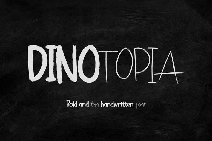 Thumbnail for Dinotopia - Police manuscrite