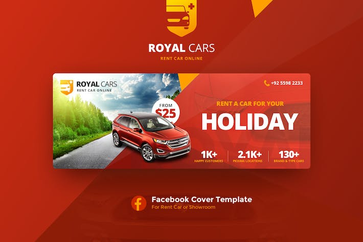 Thumbnail for Royal Cars Facebook Cover Template V.1