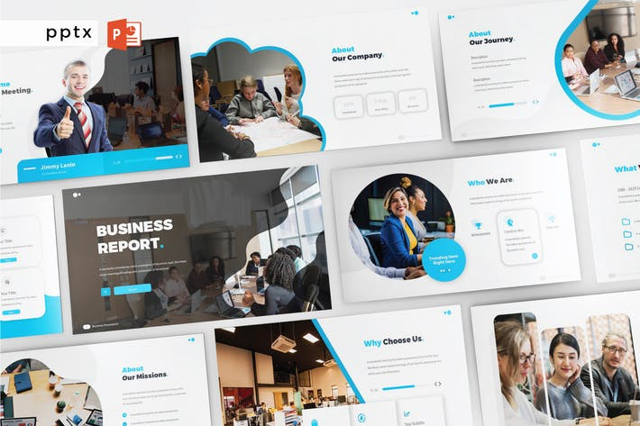 Thumbnail for BUSINESS REPORT - Powerpoint  V257