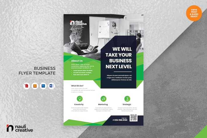 Thumbnail for Corporate Business Flyer AI, DOC, & PSD Vol.25
