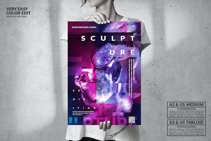 Thumbnail for Sculpture Party  - Big Music Poster Design