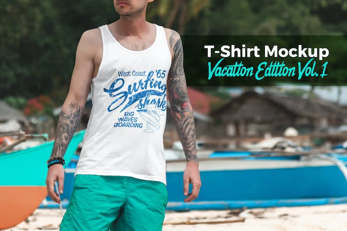 Thumbnail for T-Shirt Mockup Vacation Edition Vol. 1