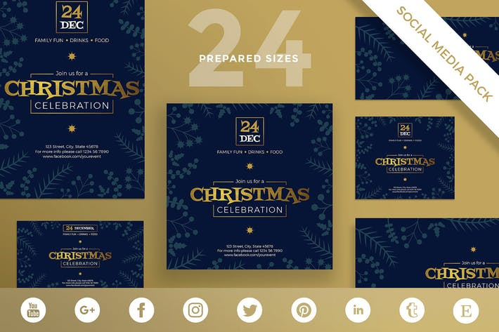 Christmas Celebration Social Media Pack Template