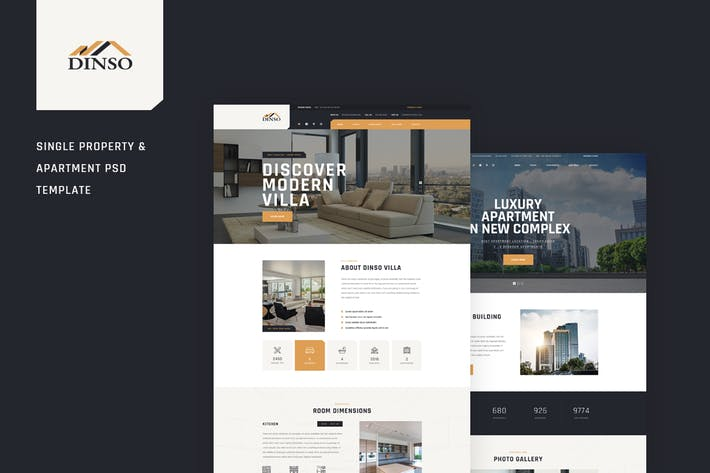 Thumbnail for Dinso - Single Property & Apartment PSD Template