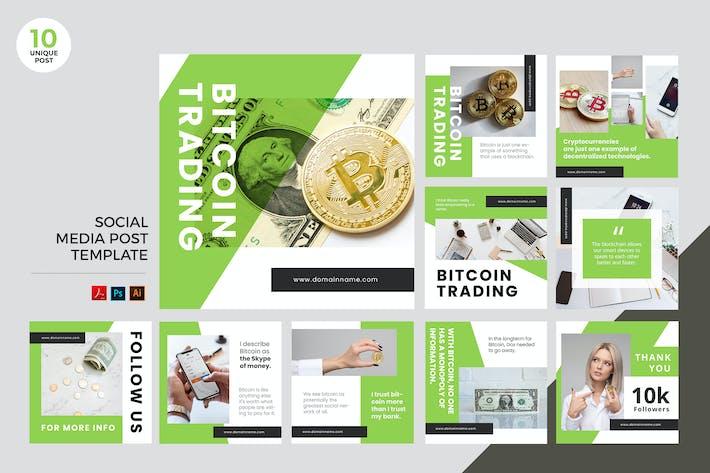 Thumbnail for Bitcoin Trading Social Media Kit PSD & AI