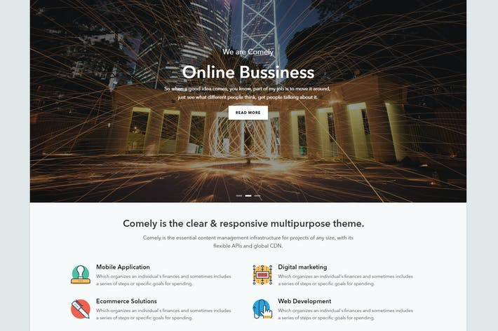 Thumbnail for Comely - Responsive Business Drupal 8 Theme
