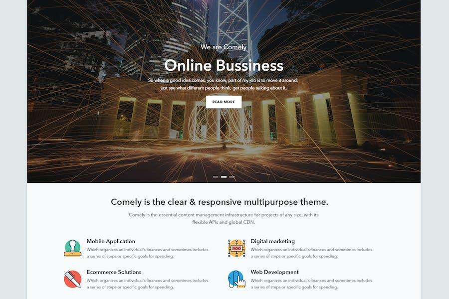 Comely - Отзывчивый Бизнес Drupal 8 Тема