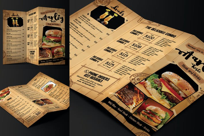 Thumbnail for Cafe Menu Trifold