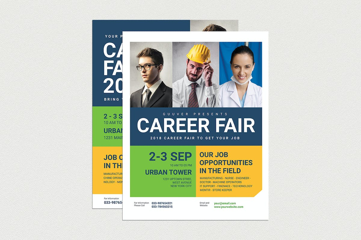 Career Fair Flyer by Guuver on Envato