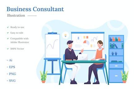 Ilustración de Consultor Comercial