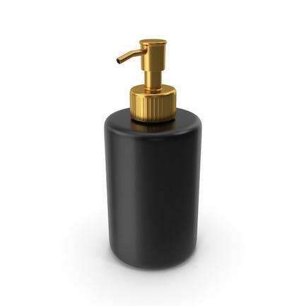 Dispensador de jabón dorado negro