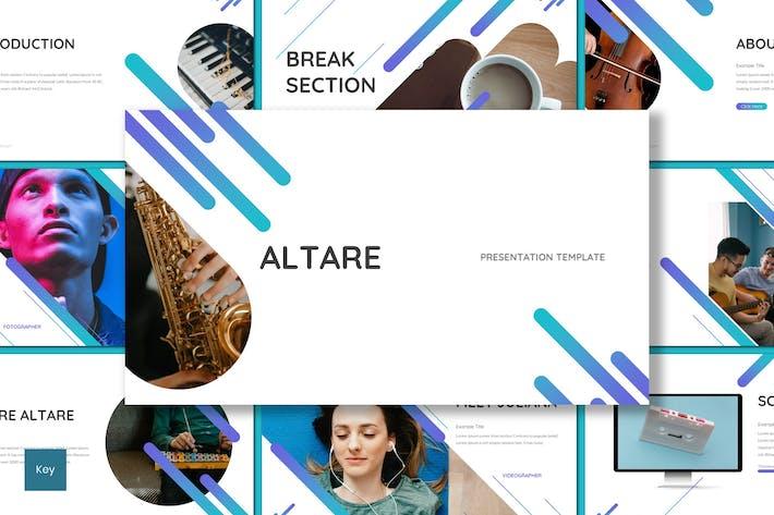 Thumbnail for Altare - Шаблон Keynote музыкальных инструментов