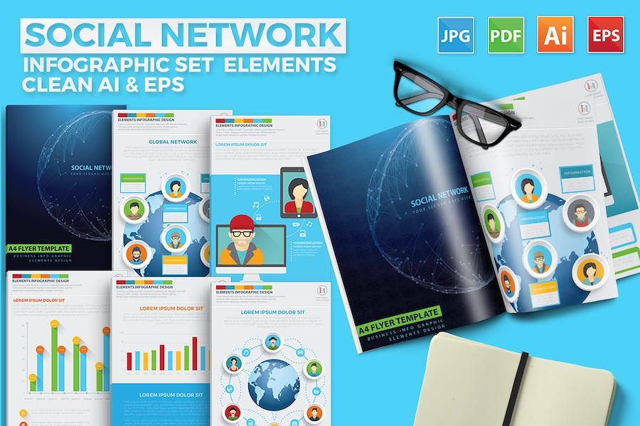 Social Network Infographics Design