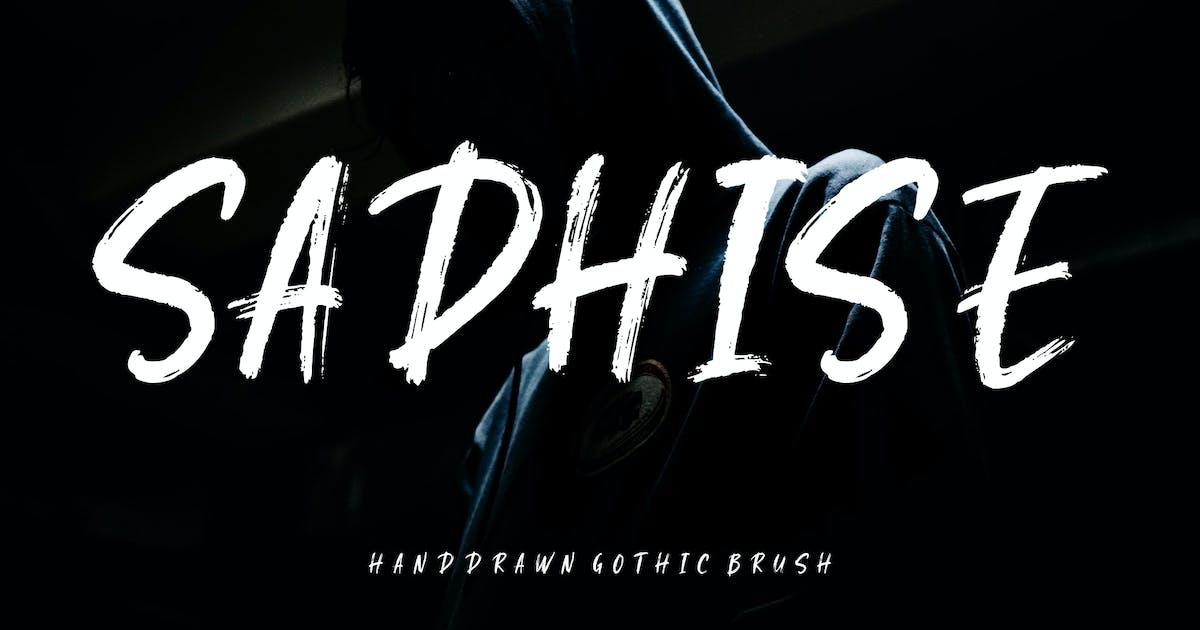 Download Sadhise Handdrawn Gothic Brush by RahardiCreative